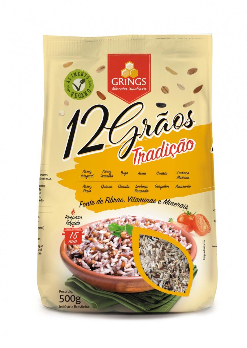"""ARROZ 12 GRAOS 500G """"GRINGS"""""""
