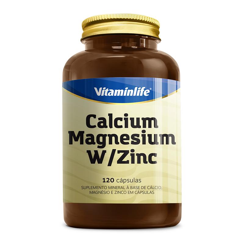 """CAPSULAS CALCIO, MAGNESIUM E ZINCO """"120"""" (VitaminLife)"""