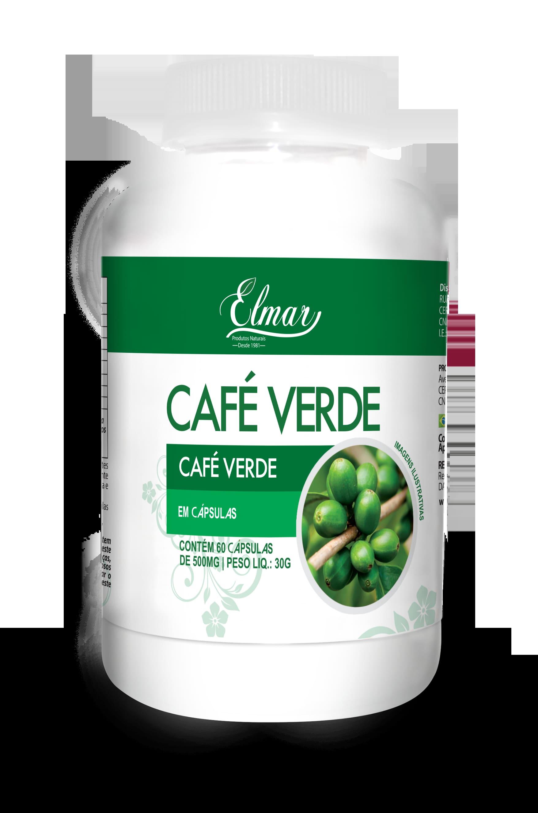 """CAPSULAS CAFE VERDE 60x500mg """"Elmar"""""""