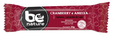 BARRA FRUTAS BE NATURE CRANBERRY AMEIXA 16X30g(sem glutem,açucar e lactose)