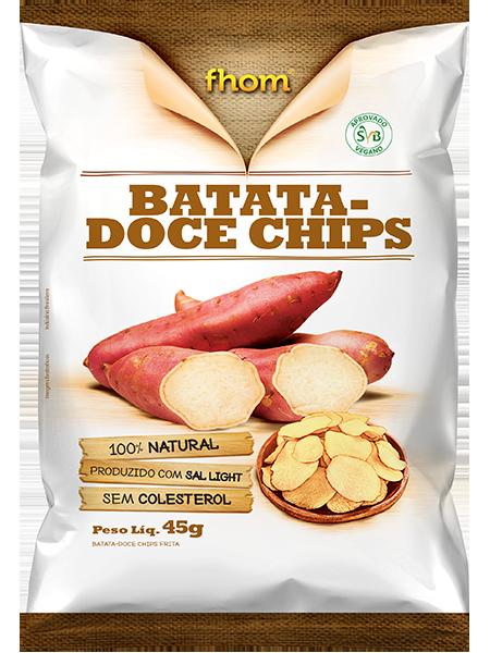 CHIPS BATATA DOCE ROSADA FHOM 20X45g