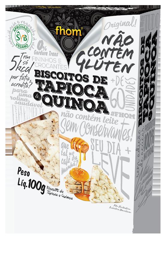 BISCOITO TAPIOCA COM QUINUA 10X100g (FHOM)