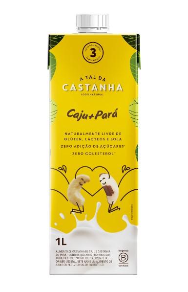 BEBIDA VEGETAL DE CASTANHA CAJU + PARA 1L