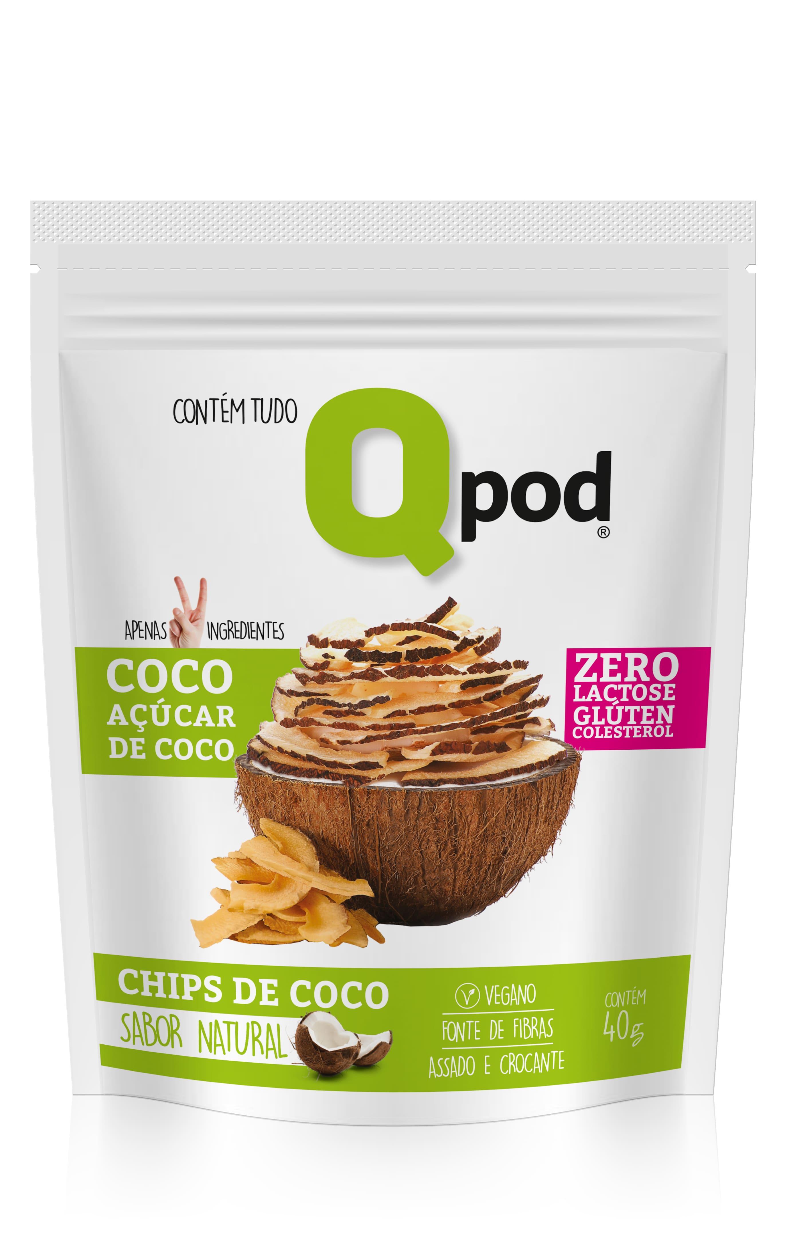 CHIPS DE COCO NATURAL ACUCAR DE COCO 40g
