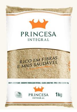 ARROZ LONGO FINO INTEGRAL PRINCESA 10X1Kg Parboilizado