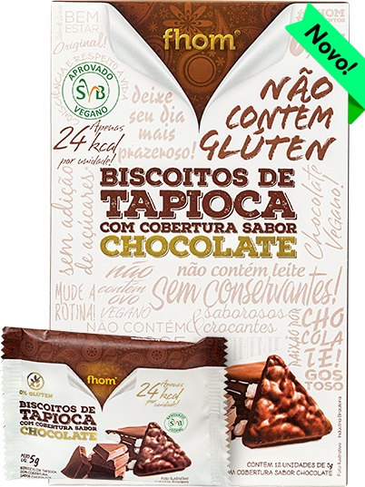 BISCOITO TAPIOCA CHOCOLATE 60g (FHOM)