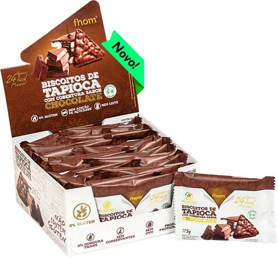 BISCOITO TAPIOCA CHOCOLATE DISPLAY 4X100g (FHOM)