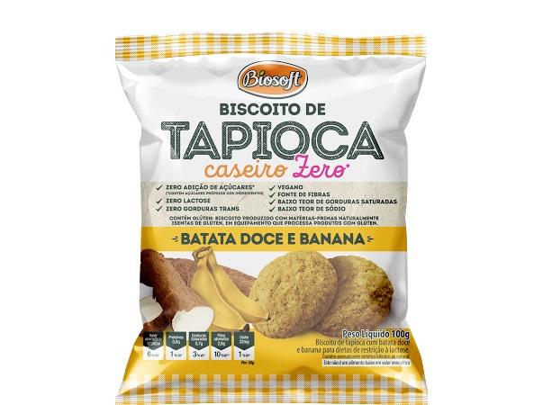 BISCOITO TAPIOCA CASEIRO CHOCOLATE BIOSOFT 100g