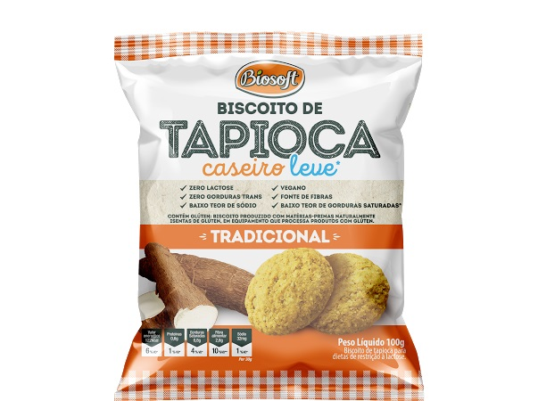 BISCOITO TAPIOCA CASEIRO TRADICIONAL BIOSOFT 100g