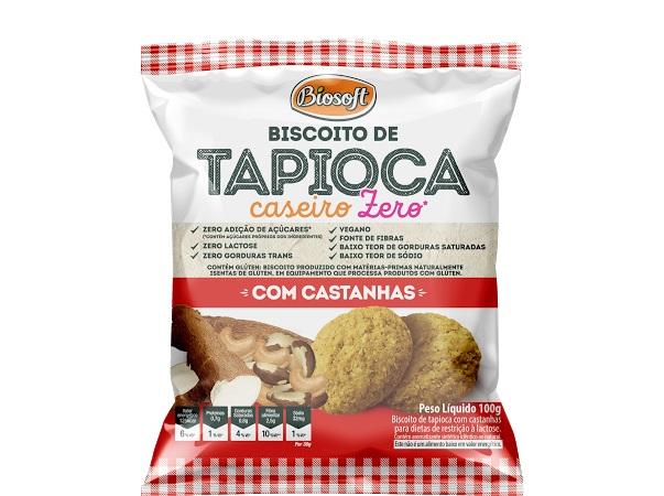 BISCOITO TAPIOCA CASEIRO CASTANHAS BIOSOFT 100g