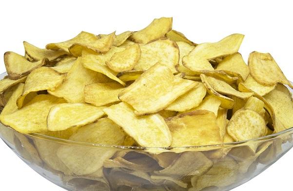 CHIPS VEGANO MEDITERRANEO FRISPY 2kg(batata doce azeite de oliva alecrim sal rosa himalaia0