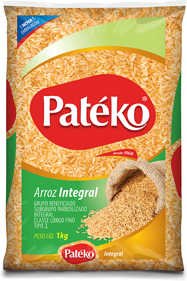 ARROZ LONGO FINO INTEGRAL PATEKO 10X1KG Parboilizado
