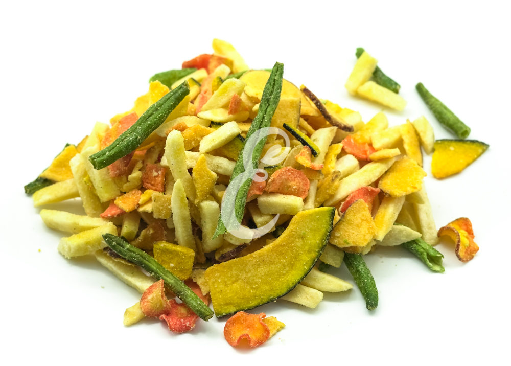 CHIPS MIX DE VEGETAIS(abóbora+vagem+batata doce+batata +cenoura+oóleo de palma)